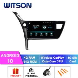 Witson Android 10 DVD Car Player für Toyota 2017 Corolla Europern Version 4GB RAM 64GB Flash großer Bildschirm im Auto DVD-Player