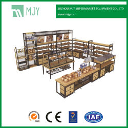 MDF madera supermercado hornear y promoción de la torrefacción de Rack de pantalla
