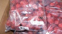 Morangos congelados, Morango, IQF IQF soma dos morangos congelados cortes, Puré de morangos congelados de Morangos com Açúcar, no saco/Tambor/Balde, ISO/HACCP/BRC
