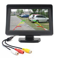 Panel LCD en color de 4,3 pulgadas Alquiler de carretilla Van vehículo Vista trasera de aparcamiento marcha atrás de la seguridad Monitor