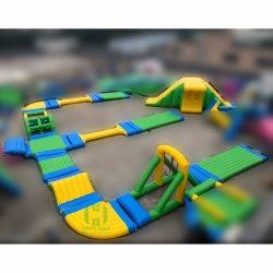 옥외 대양 거대한 팽창식 물 공원 활주 뜨 게임 장난감