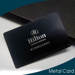 Nom personnalisé de la loyauté d'adhésion de la carte d'affaires en métal noir mat