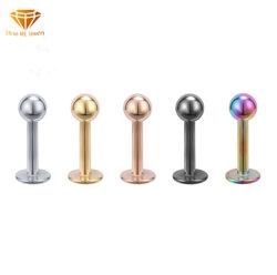 方法宝石類の銀の宝石類のチタニウムの鋼鉄ステンレス鋼の球のリップの釘はボディ刺すような宝石類Sspb04を個人化した