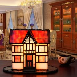Lampada di scrittorio della Camera di lampada della Tabella di stile di Tiffany  Lampade di vetro dell'indicatore luminoso dello scrittorio della lampada di vetro