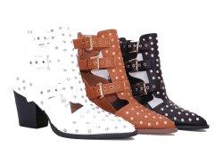 3 ЦВЕТОВ PU Леди мода/ /удобные/Джокер/ шпильки крепления замков ремней безопасности с помощью коротких ботинки.