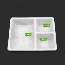 Food Grade Microwavable clairement à emporter de plastique recyclé Fruits Déjeuner unique jetables fast food La cuisine de PP de l'Emballage Conteneur en plastique avec couvercles