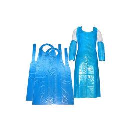 Delantal de PE desechable sin manga plástico impermeable Pretección personal HDPE Delantal de LDPE para cocinar Cocina Limpieza de Hotel y Servicio de Industria