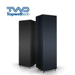 """Presa di fabbrica OEM 19"""" con sportello in vetro per data center 18u-48u per interno Server di rete a telaio aperto in acciaio con supporto verticale 2-4 ventole di raffreddamento"""