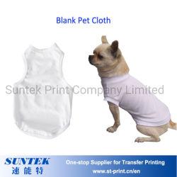 Perro de poliéster blanco Camiseta para la impresión de sublimación