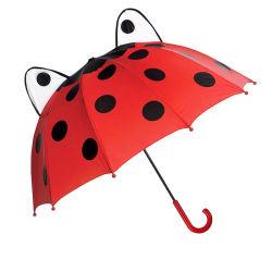 Los niños de los animales en forma de paraguas paraguas Mariquita encantadora paraguas recta (YZ-20-32)