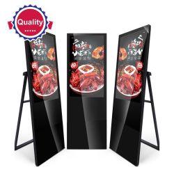 شاشة عرض ملصق Ultra Thin Digital Signage LCD محمولة بحجم 55 بوصة شاشة عرض LCD لعرض الإعلانات على شاشة العرض الرقمية