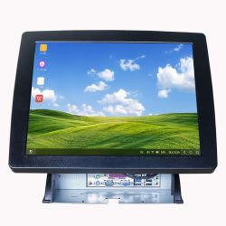 에 대한 공장 출하 시 15인치 LED LCD 저항성 터치 스크린 모니터 POS Cashier 시스템