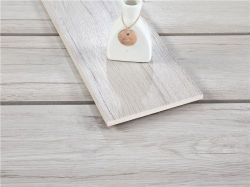 Couleur gris naturel en céramique en porcelaine émaillée en bois fini mat Floor and Wall Tile