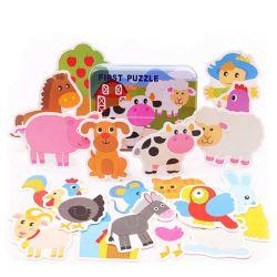 子供の木製の困惑動物車のフルーツのおもちゃ