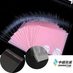 Sacchetto autoadesivo di plastica su ordinazione di OPP poli con Header3bf6-13 stampato