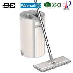 Balai de nettoyage en microfibres Squeeze plat avec la benne pour tous les étages pour le supermarché