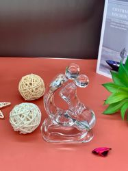 공장 판매 투명 크리스탈 유리 장식, 웨딩 홈, 사무실, 호텔 장식, 유리 공예, 홈 장식 장식
