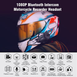 Freedconn R1-Plus Motorcycle Helmet 5.0 Bluetooth WiFi Recorder 6 - Rider Group 인터콤 헤드셋 Bqb Telec