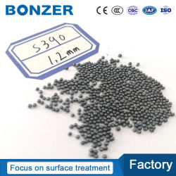 Corte chorro de arena industrial material abrasivo de granalla de acero S390 la fabricación de diversos tipos de máquina de pulido