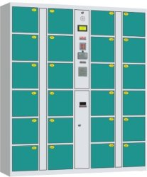 Kast van de Opslag van de Winkel van de Supermarkt van de Streepjescode van de Deuren van de douane de Automatische Elektronische Slimme Auto