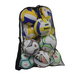 Maillage Heavy Duty coulisse Équipement de sport de plage de basket-ball de stockage de pignons de natation Bandoulière réglable ballon de soccer sac