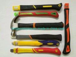 16oz 450g металлические стекловолокна шлицевого вала молотком с резиновым рукоятку ручного инструмента