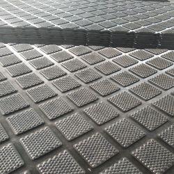 家畜の馬牛スリップ防止ゴム製マットの布によって挿入されるマット