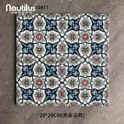 """2021 Nuevo estilo vintage de Marruecos acabado satinado 20x20cm/8X8"""" Decoración esmaltada baldosas para característica decoración"""