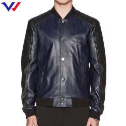 옆 대다리 포켓 남자 재킷을%s 가진 주문 형식 야구 재킷 가죽 재킷