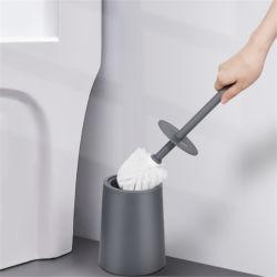 洗面所のシリコーンの長いハンドルのクリーニングブラシ