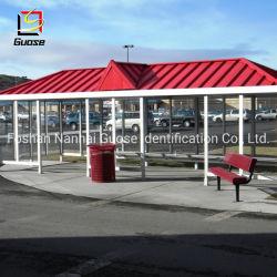 Moderner Stahlkonstruktion-Bushaltestelle-Schutz-Entwurfs-rauchender Schutz