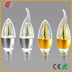 Ampoule à filament LED décoratif C35 E14 E12 Bougie forme ampoule de feu d'Edison 5W 7W