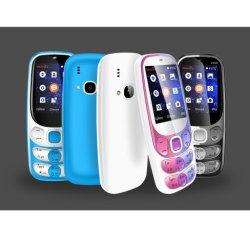 prix d'usine Vente directe de 2,4 pouces Gros bouton Double Carte SIM mobile 4 couleurs au choix