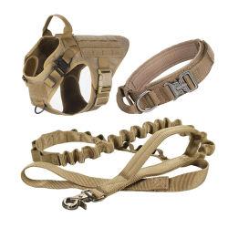 Lujo ajustable arnés táctico militar Correa y collar de perro de servicio