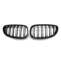 5 Série E60 la calandre avant 2004-2009 double ligne pour BMW Voiture noir brillant