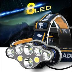 Der Leistungs-T6 LED Taschenlampen-Fackel-Lampe Scheinwerfer-nachladbare des Scheinwerfer-8LED für im Freien