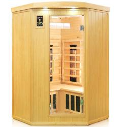 Madera Muebles de Baño portátil para el uso de la esquina interior, Sauna Infrarrojo Lejano como cabaña de troncos de madera Sauna Dome para Salud belleza