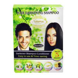 Высокое качество натуральным черных волос шампунем черный цвет волос шампунь для волос на основе красителя