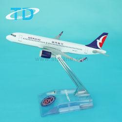 12cmミニチュアモデルA320neoによってダイカストで形造られる模型飛行機