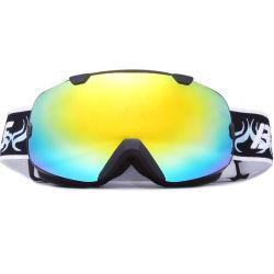 Óculos de neve de lente dupla cinta de logotipo OEM