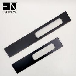 침실/도어/키친용 직사각형의 블랙 알루미늄 합금 가구 손잡이