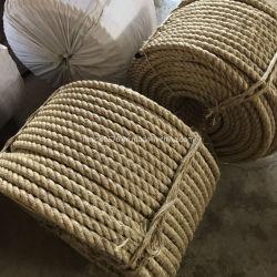 Usine de torsion en gros 3/4 Strand Linge de couleur naturelle de la ficelle de sisal corde de chanvre de Manille de jute pour la Marine et d'amarrage