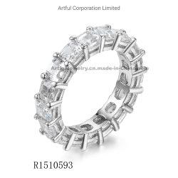 2020 Novo Conjunto de Pinos anel de prata com elevado padrão CZ