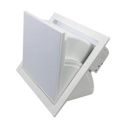 سماعة قابلة للضبط في السقف قابلة للضبط ومقوة 200 واط، 6.5 بوصة متحد المحور، نظام PA مضخم الصوت عالي الصوت مع وحدة تحكم عن بُعد لاسلكية