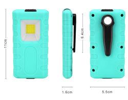 3W recargable Mini Lámpara LED de trabajo con Clip & Imán 800mAh para acampar, Veichle reparación, senderismo, paseos por la noche, de emergencia