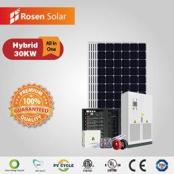 Rosen 30kw Jeu complet de l'onduleur solaire hybride du système de stockage de l'énergie