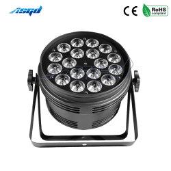 屋外の催し物の段階の照明のためのAsgd 18X10W RGBW 4in1 LEDの同価ライト