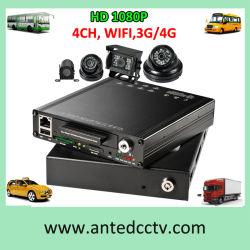 4/8 canal véhicule 1080p les systèmes de surveillance avec caméra de sécurité et de la voiture DVR, le suivi GPS mobile