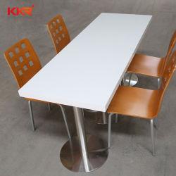 레스토랑 가구 테이블 아크릴 솔리드 표면 4 - 석식용 테이블