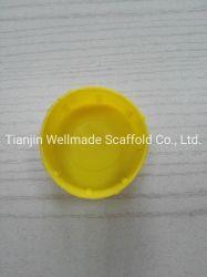 Los materiales de construcción de tubo de andamios de tapas de protección el extremo del tubo de plástico amarillo